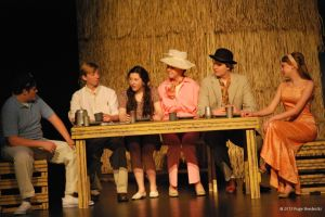 Students perform Gilligan's Island for the winter one acts.