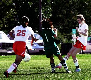 File photo of girls' soccer from the 2013 season. Photo by Kristen Bingen.