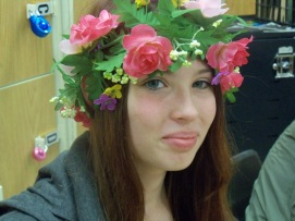 A flower child for 60s/70s Day