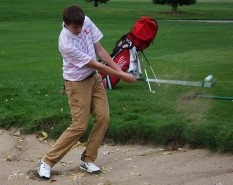 Next year Connor McCormick will be the only returning senior on the varsity golf team. Photo by Emma Winckel.