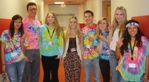 This group of seniors found something to dress in for 60s/70s day. Photo by Brooke Heppner.