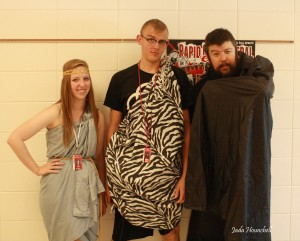 Mr. Riggs slips into this senior toga pic from last year's homecoming. Photo by Jada Hounchell