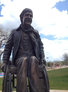 Scotty's statue in Memorial Park. Photo by Jacob Knutson