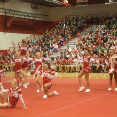 Photo By: Sara Felix. Central High School Cheerleaders