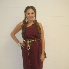Photo By: Sara Felix. Class color and senior toga day.