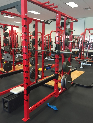 weight room new equipment